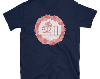 Womens 21st Birthday Girl Pink Princess T-Shirt Gift Tee