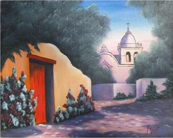 Adobo City with Red Door