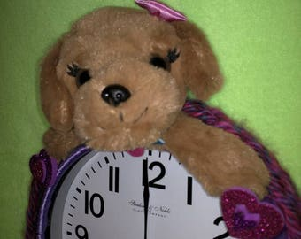 Barbie Puppy Clock