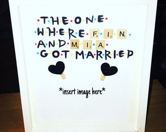 Friends Themed Wedding Scrabble Frame