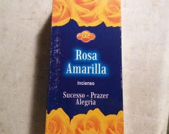Incense Rosa Amarilla SAC 120 Rods/6 by 20 Uni