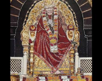 Sai Baba Of Shirdi Hindu God In Size – 28″ X 20″ Inches - Saint Photo Frames