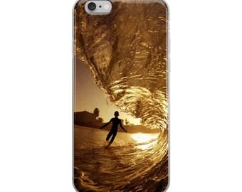 Golden Hour Surfer's Dream Wave iPhone Case Ocean Waves Surfing Endless Summer Case