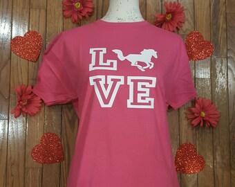 Horse LOVE short-sleeve tee