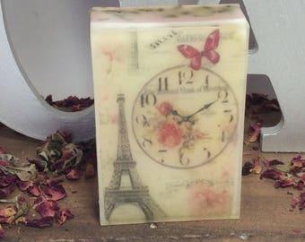 Handmade organic soap, I LOVE PARIS design bar soap
