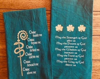 St Patrick's Day  Green Flour Sack Tea Towels