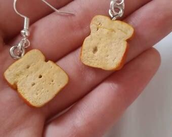 Bread earrings