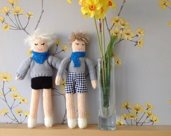 Knitted dolls boys