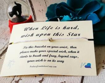 Make a Wish Bracelet, Wish Bracelet, Friendship Bracelet, String Bracelet, Cord Bracelet, Best Friend Bracelet, affirmation bracelet, gifts