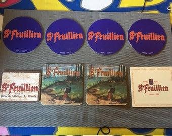 13 pieces St. Feuillien Beer Coasters