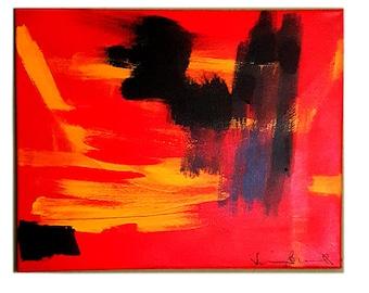 """Rojo Onyx Abstract Art 16""""x20"""""""