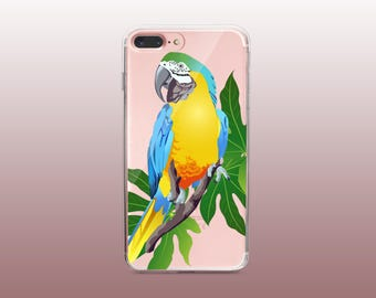 Parrot Clear TPU Phone Case for iPhone 8- iPhone 8 Plus - iPhone X - iPhone 7 Plus-iPhone 7-iPhone 6-iPhone 6S-Samsung S8