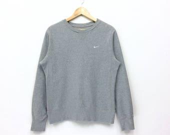 Rare Vintage Nike Sweatshirt  Small Logo nike swoosh tennis pullover jumper Hiphop swag lo life