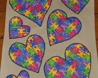 Autism garden flag, Love needs no words 3