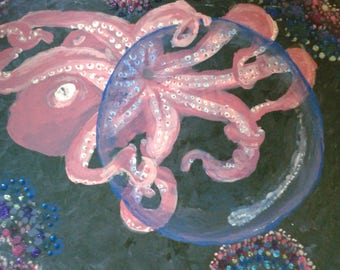 The Octopus finds a Gazing Ball