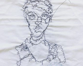 Stiched self portrait machine