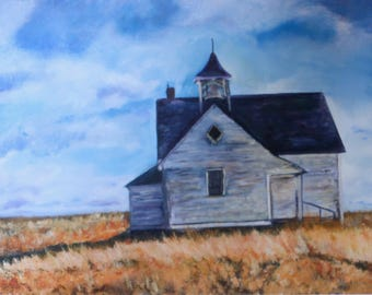 Giclee Print of an old Schoolhouse from an original oil painting