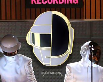 Gram Punk Hard Enamel Pin - Gold Daft Punk Random Access Memories Grammy Win Lapel Pin Accessory