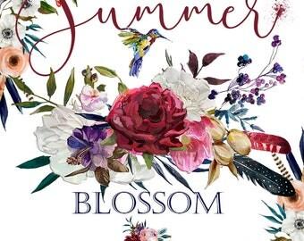 Summer Blossom - Boho Wedding elements Collection