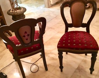 Antique Set of Victorian dining 6chairs & 2 armchairs