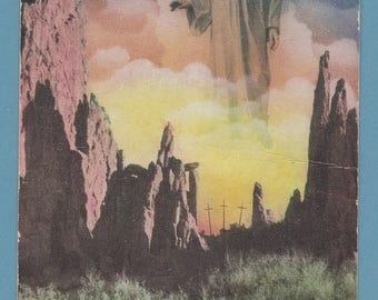 Vintage Advertising Postcard Easter Sunrise Service Colorado Garden of the Gods