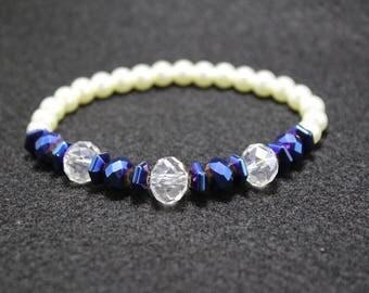 Blue Crystal Beaded Bracelet
