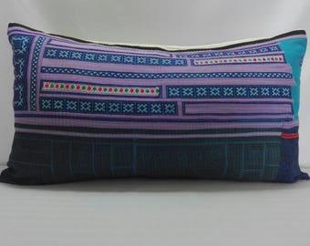 Pillow case Hmong Fabric. Hmong textile.