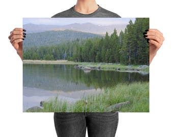 Morning Light Over A Mountain Forest - Printed Photograph, Forest, Trees, Mountains, Wall Art, Home Decor, Print