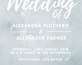 Printable Wedding Invitations, Wedding Invitations, Wedding Invitation Sets, Modern Wedding Invitations, Forest Invitations
