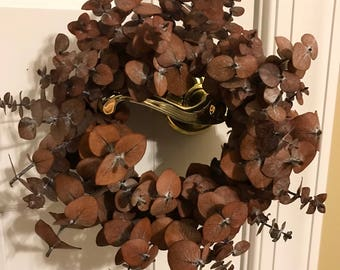 Mini Dried Eucalyptus Wreath | home decor | wall decor | gallery wall |farmhouse | candle ring