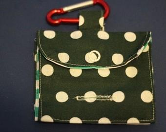 Polka dots and stripes treat and poo bags bag