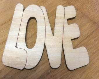 LOVE - Laser Cut Drinks Coaster