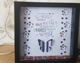 Beautiful mother's day frame. Pop up effect frame. Mother quote. Mother's day
