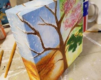 4 Seasons Tree of Life block art