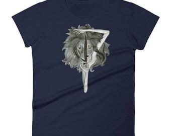 Lioness, Leo Sign, Leo Star Sign, Women's Graphic T-Shirt, Super Soft Shirt, Leo Zodiac Sign, Women's short sleeve t-shirt