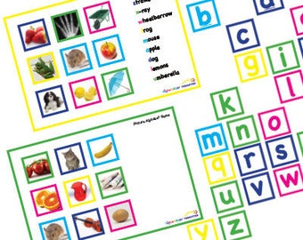 Picture Alphabet Lotto PDF Downloadable Printable EYFS KS1 Educational Resource