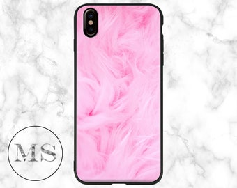 Pink Fur, Furry, Matte, Abstract case for iPhone X, 8, 8 Plus, 7, 7 Plus, 6s, 6s Plus, 6, 6 Plus, 5, 5s, SE, cheap, girly