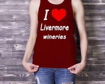 I HEART Livermore Wineries Ladies' Tank