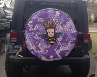 Hand Painted Custom Tire Cover