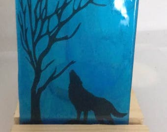 fused glass tealight candle screen