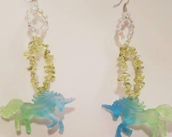 Unicorn Candy Statement Earrings