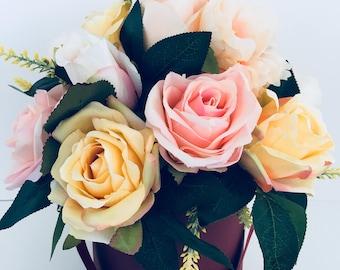 Beautiful artificial flower bouquet*anniversary*gift*home decor*floral*wedding