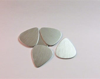 Set Of 10 Guitar Picks Pick Aluminum Stamping Blanks