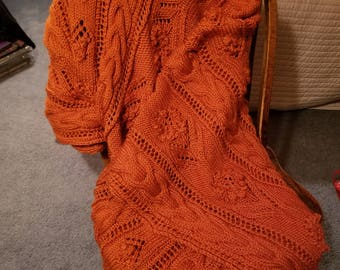 Hand-Knitted Afghan/Blanket