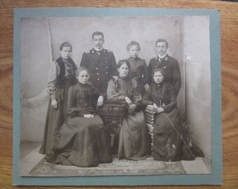 USA  Fleat Sailors - Officers with family  old Photo 1920ies