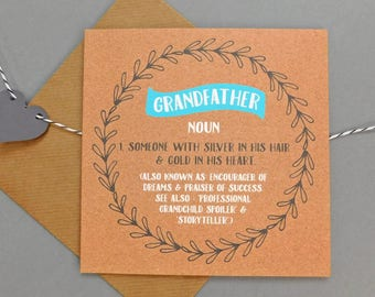 Funny card for grandfather card for grandfather card for grandpa happy fathers day cards humour grandfather birthday (DEF45)