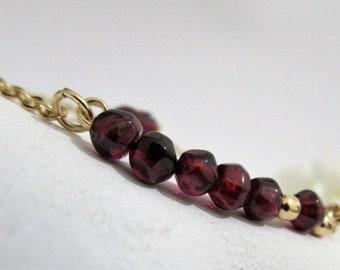A goldfilled bracelet with stunning Garnet Gemstones