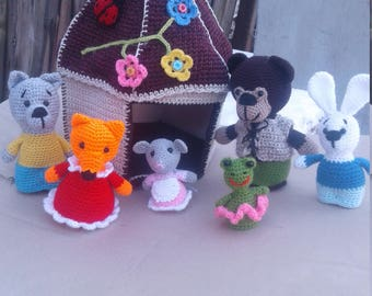 puppet show fairy tale Teremok toy theater