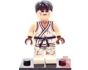 Custom RYU Inspired Minifig Lego Game Street Fighter