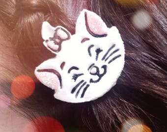 Disney's aristocats inspired Marie hair clip